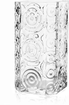 Glass Swirls Triangle Vase 25cm image 2
