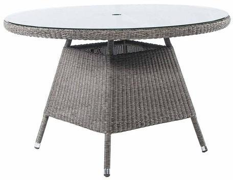 Calvina Monte Carlo Round Outdoor Table With Glass image 2