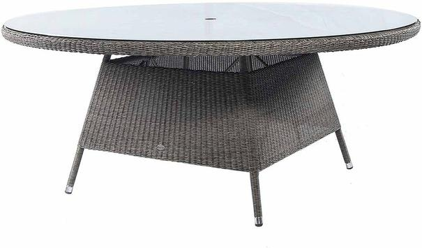 Calvina Monte Carlo Round Outdoor Table With Glass image 3