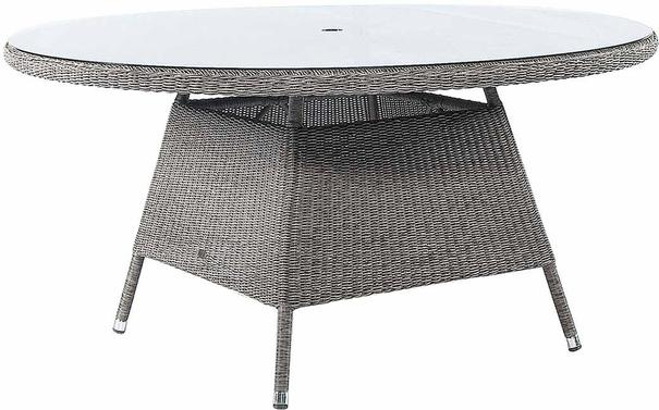 Calvina Monte Carlo Round Outdoor Table With Glass image 4