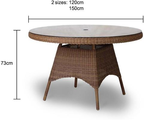 Salama San Marino Outdoor Table With Glass image 5