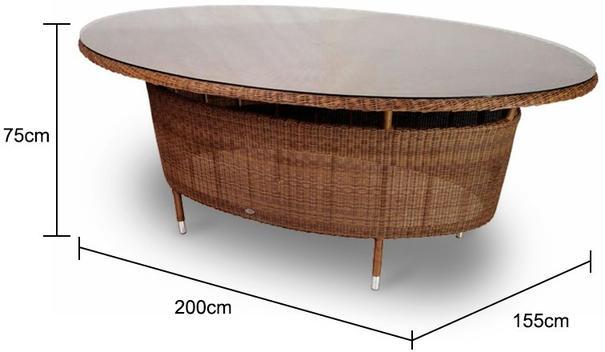 Shira San Marino Oval Garden Table image 3