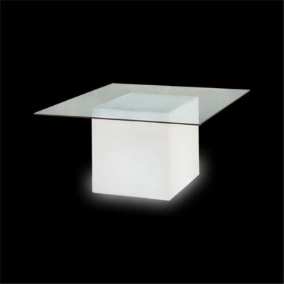 Square (light) dining table