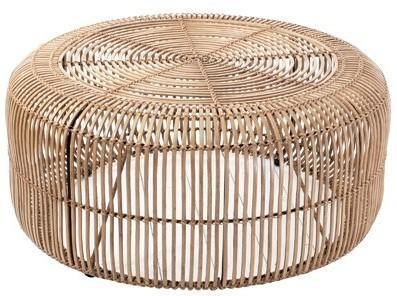 Round Rattan Coffee Table image 2