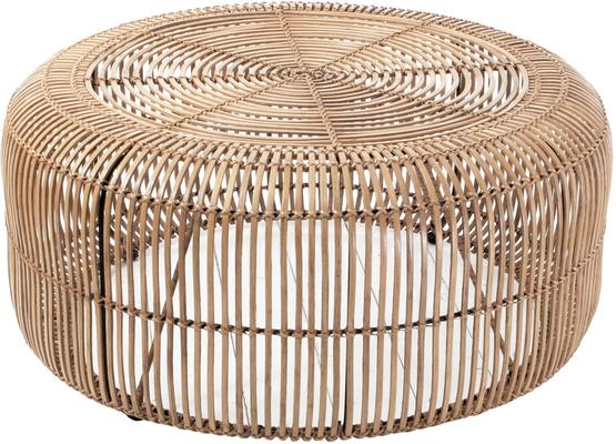Round Rattan Coffee Table image 3