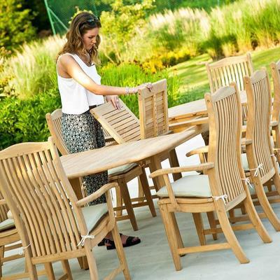 Roble Extending Garden Dining Table image 4
