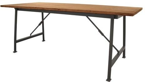 Folding Table with Teak Top image 2