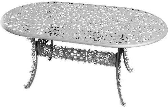 Industrial Oval Garden Table Victorian Design