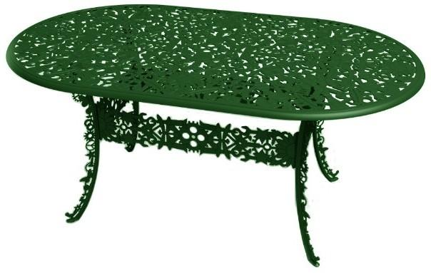Industrial Oval Garden Table Victorian Design image 2