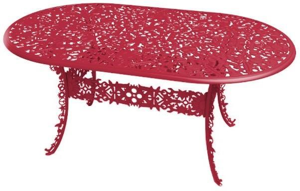 Industrial Oval Garden Table Victorian Design image 3