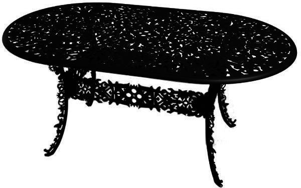 Industrial Oval Garden Table Victorian Design image 4