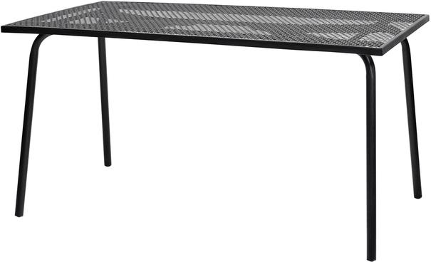 Rectangular Black Metal Garden Table