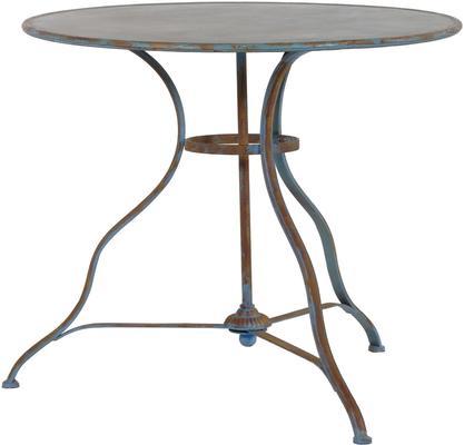 Round Distressed Antique Garden Table