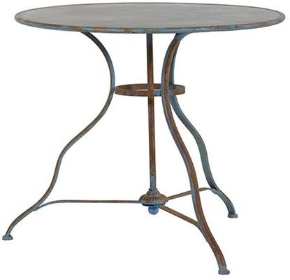 Round Distressed Antique Garden Table image 2