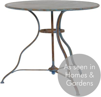 Round Distressed Antique Garden Table image 3