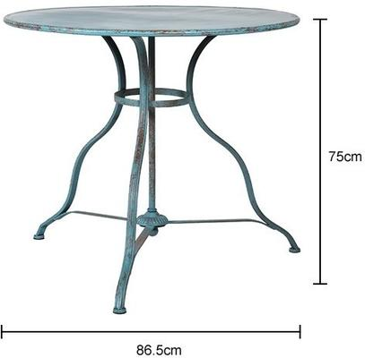 Round Distressed Antique Garden Table image 5