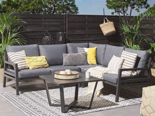 VIZZINI Outdoor Grey Corner Set and Coffee Table image 2