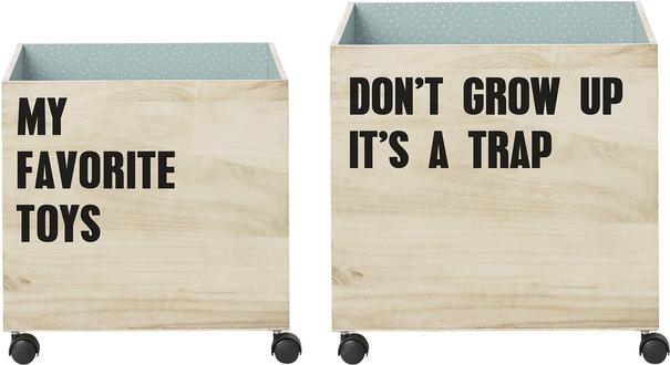 Bloomingville Storage Boxes on Wheels