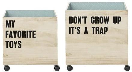 Bloomingville Storage Boxes on Wheels image 2