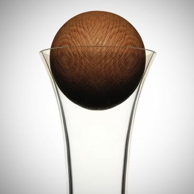 Sagaform Wine Carafe with Oak Stopper image 2