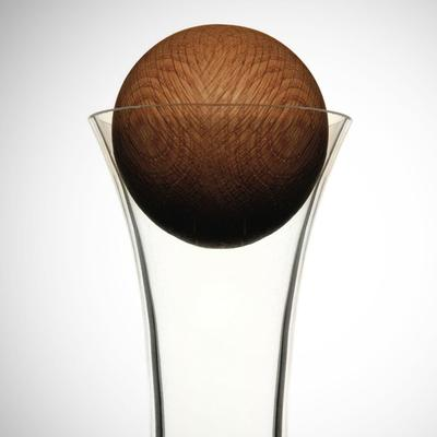Sagaform Water Carafe with Oak Stopper image 2