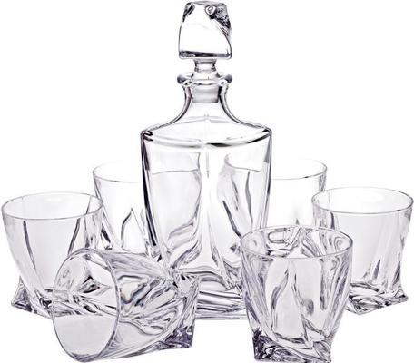 Quadro Decanter 850ml & 2 Glass Set