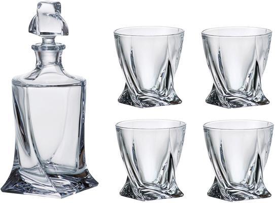 Quadro Spirits Decanter and Glass Set 1+4 850ml
