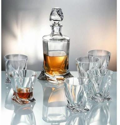 Quadro Crystal Glass Set 500ml Decanter + 2 Glasses image 3