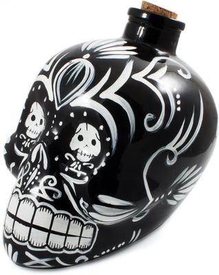 Day of the Dead Skull Decanter - Black