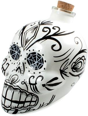 Day of the Dead Skull Decanter - White