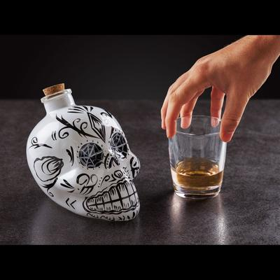 Day of the Dead Skull Decanter - White image 2