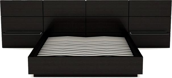 Cordoba Modern Kingsize Bed - Black Wenge with Extended Headboard image 3