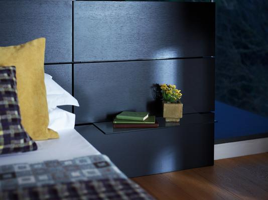 Cordoba Modern Kingsize Bed - Black Wenge with Extended Headboard image 4