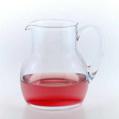 Glass Milk Water Jug 17cm High
