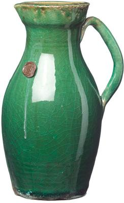 Ceramic Narrow Jug - Green