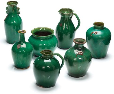 Ceramic Narrow Jug - Green image 2