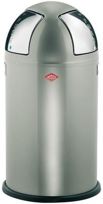 Wesco Push-Two Recycling Bin (New Silver)
