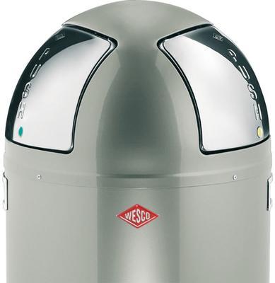 Wesco Push-Two Recycling Bin (New Silver) image 2