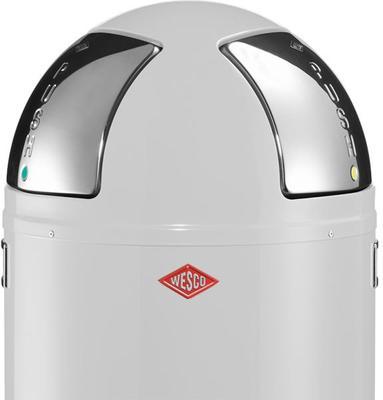 Wesco Push-Two Recycling Bin (White) image 2