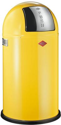 Wesco Pushboy Bin - Lemon Yellow