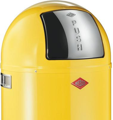 Wesco Pushboy Bin - Lemon Yellow image 2