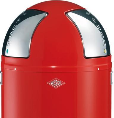 Wesco Push-Two Recycling Bin - Red image 2