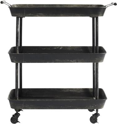 Black Metal Trolley with Three Tiers