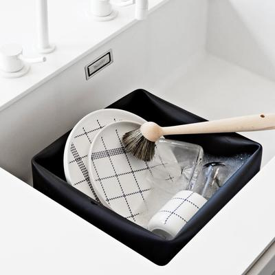 Normann Copenhagen Black Rubber Washing Up Bowl image 3