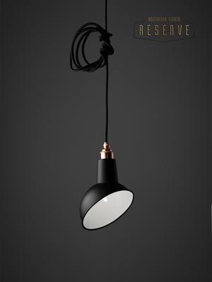 NL Reserve Miniature Angled Cloche Lamp Shade - Matte Black image 2