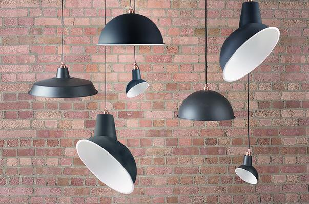 NL Reserve Industrial Angled Cloche Lamp Shade - Matte Black image 2