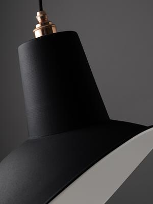 NL Reserve Industrial Angled Cloche Lamp Shade - Matte Black image 3