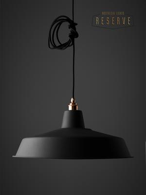 NL Reserve Classic Lamp Shade. Matte Black image 2