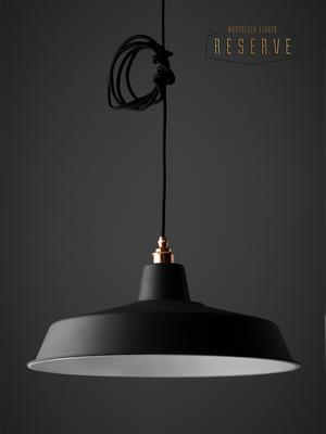 NL Reserve Classic Lamp Shade. Matte Black image 4