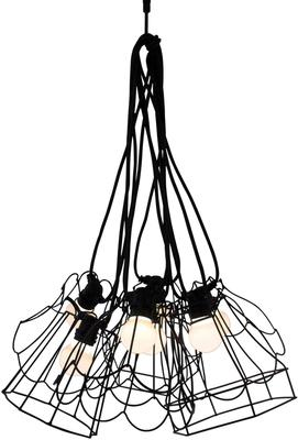 Wire Frame Tulip Lampshade - Black image 4